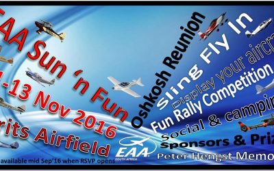 AA of South Africa 2016 – Sun n Fun fly-in weekend to Brits Airfield.